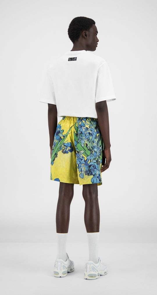 Daily Paper x Van Gogh Museum - Yellow Flowers Van Hali Shorts - Men Rear