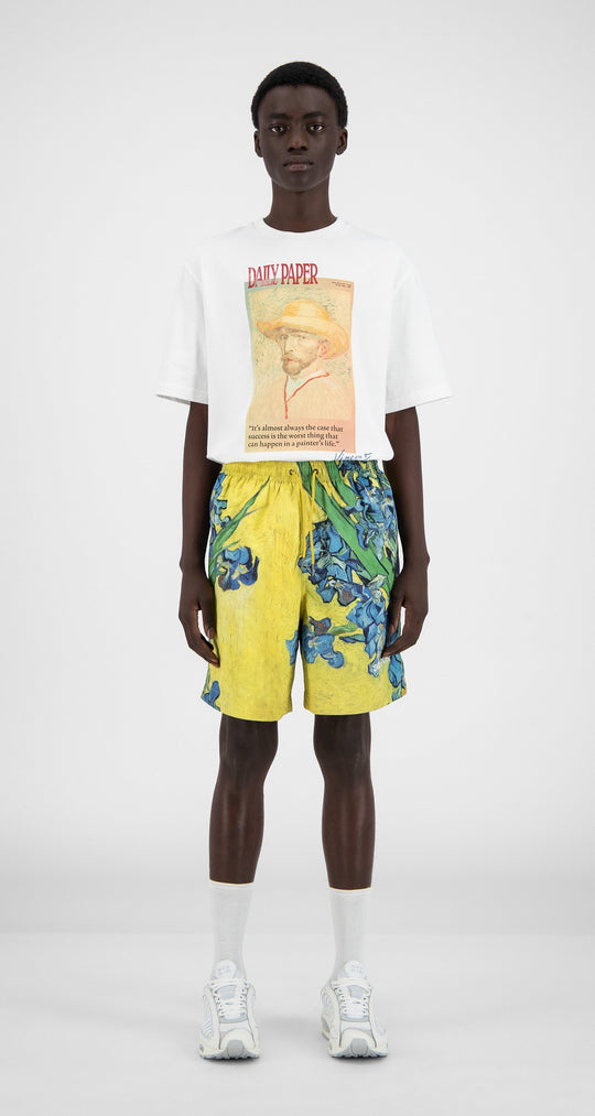 Daily Paper x Van Gogh Museum - Yellow Flowers Van Hali Shorts - Men Front