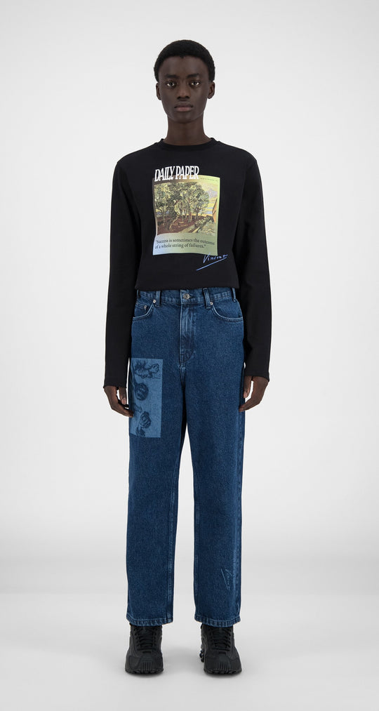 Daily Paper x Van Gogh Museum - Blue Denim Van Harzeb Pants - Men Front