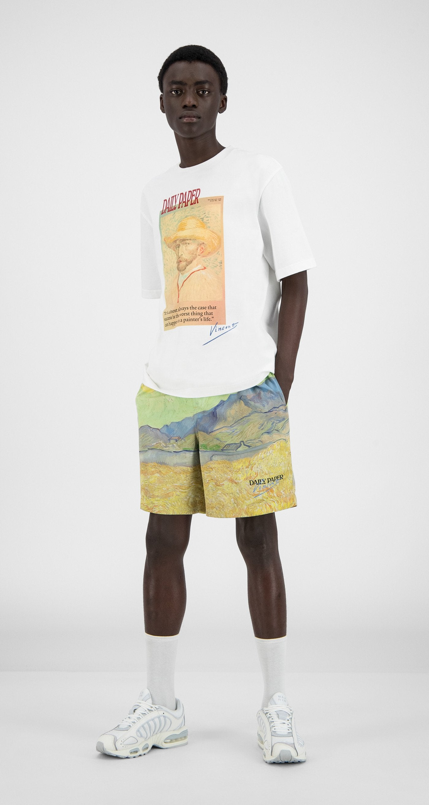 Daily Paper x Van Gogh Museum - White Van Horawhi T-Shirt - Men