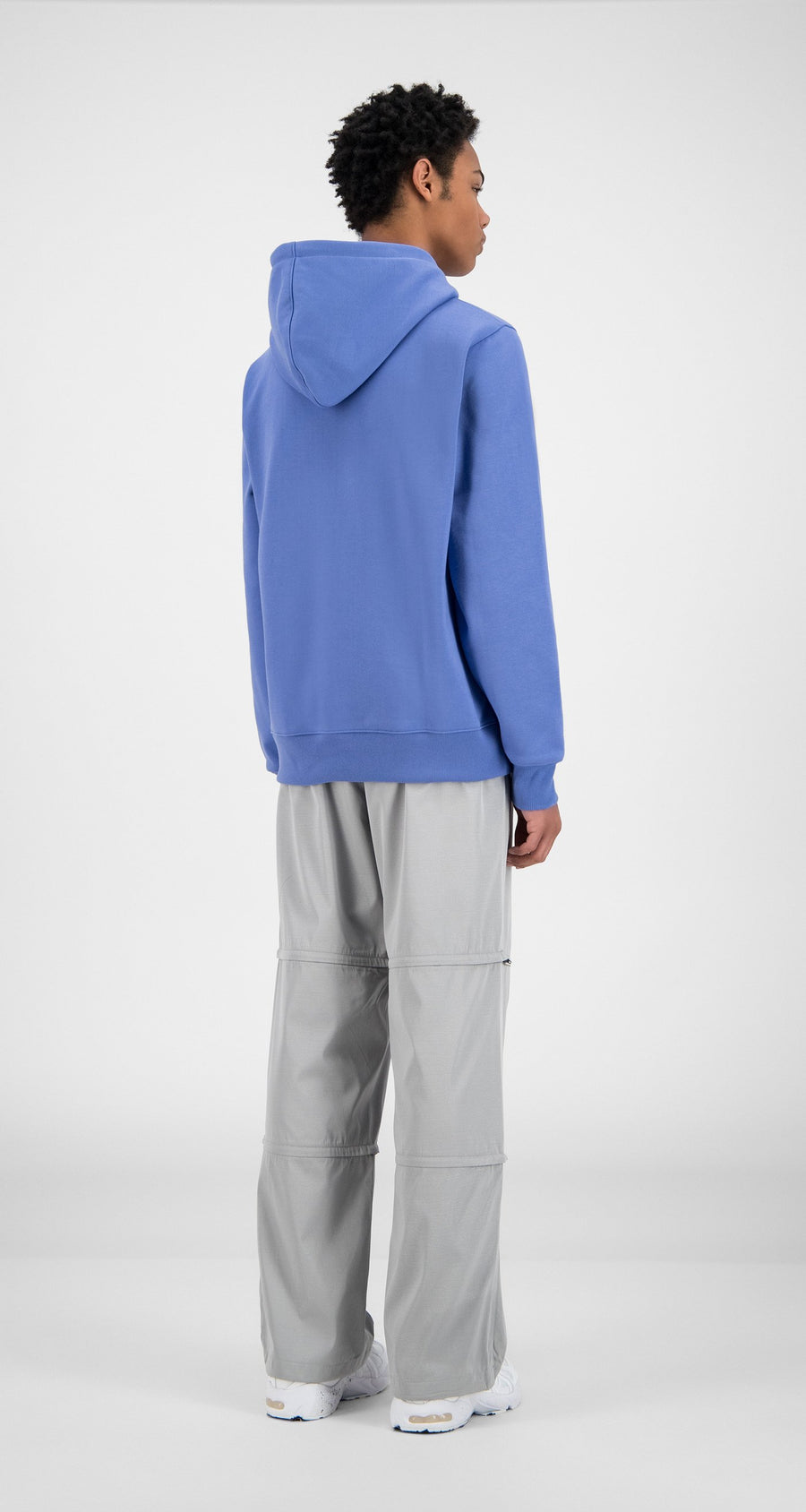 Daily Paper - Wedgewood Blue Hawe Hoody - Men Rear