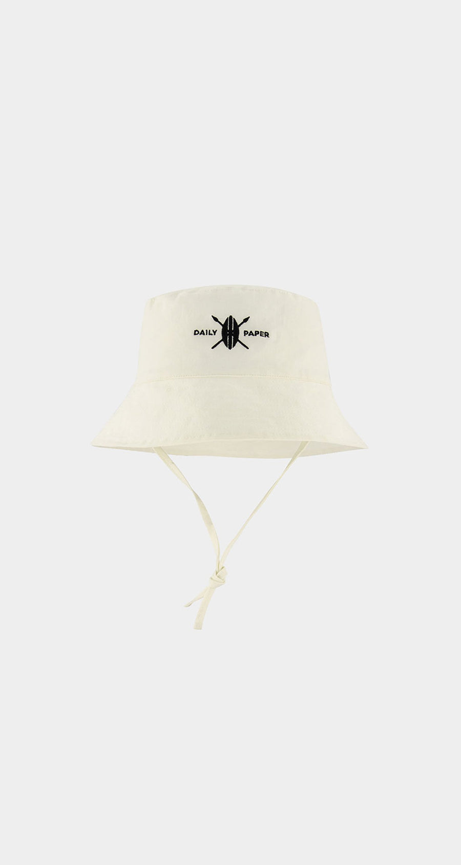 Daily Paper - White Baby Logo Bucket Hat Front