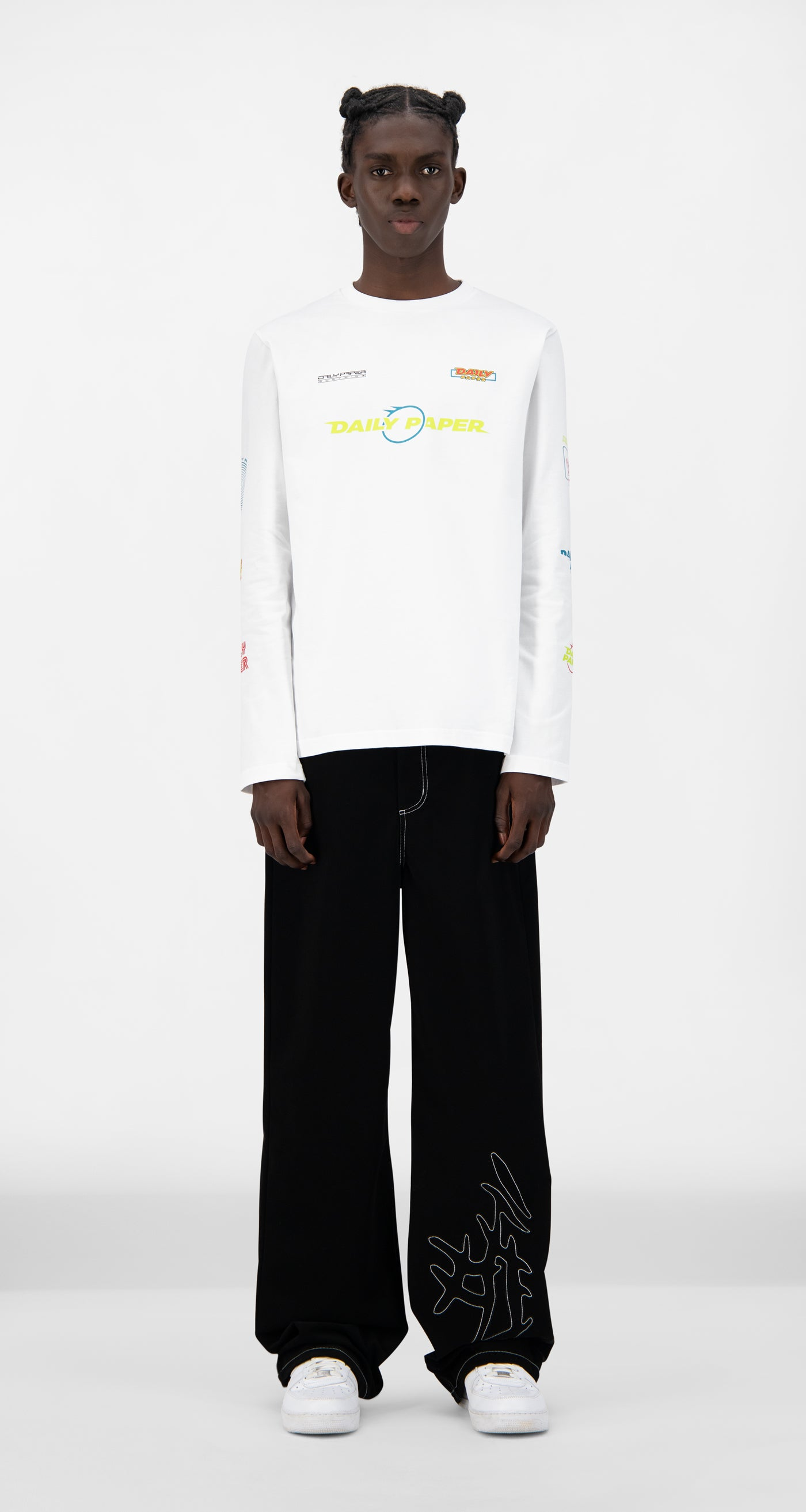 Daily Paper - White Jeff Longsleeve - Men Front