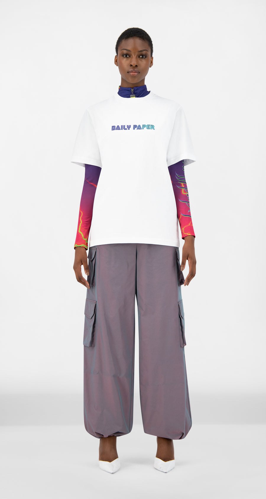 Daily Paper - White Jorwhit T-Shirt - Women Front