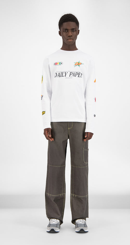 Daily Paper - White Geff Longsleeve Men Front