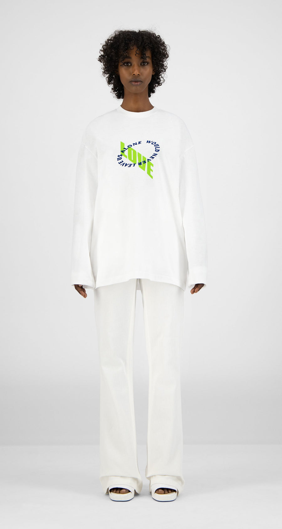 Daily Paper - White Kanwhi Longsleeve - Women Front