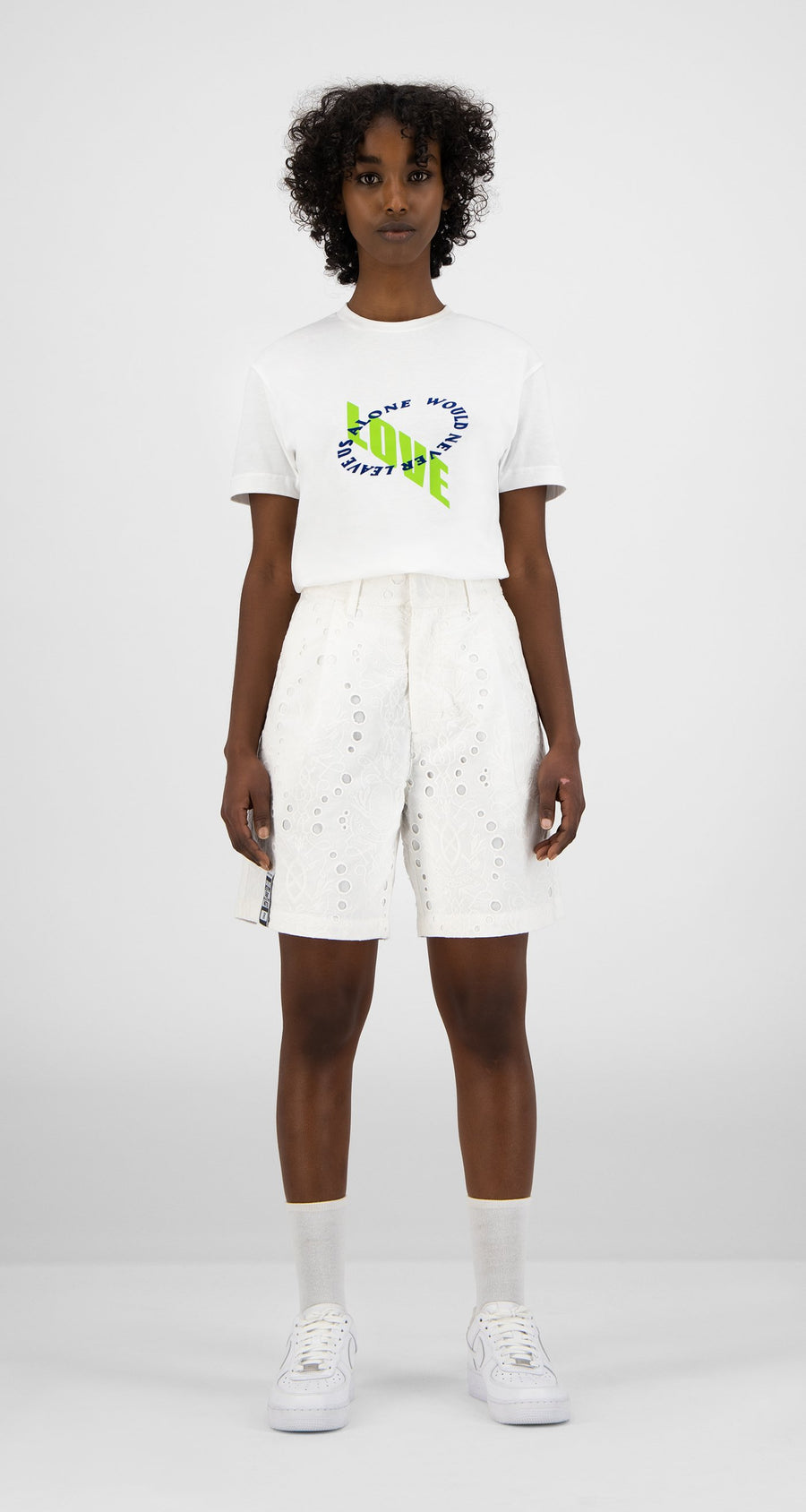 Daily Paper - White Klevon Lace Shorts - Women Front