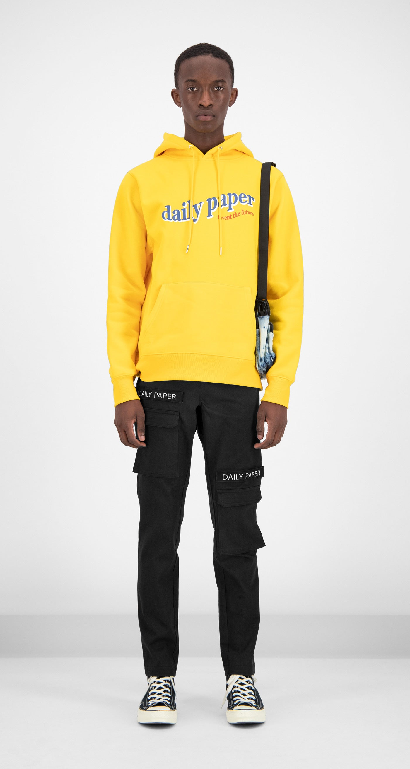 Daily Paper - Yellow Ferron Hoody Men Front