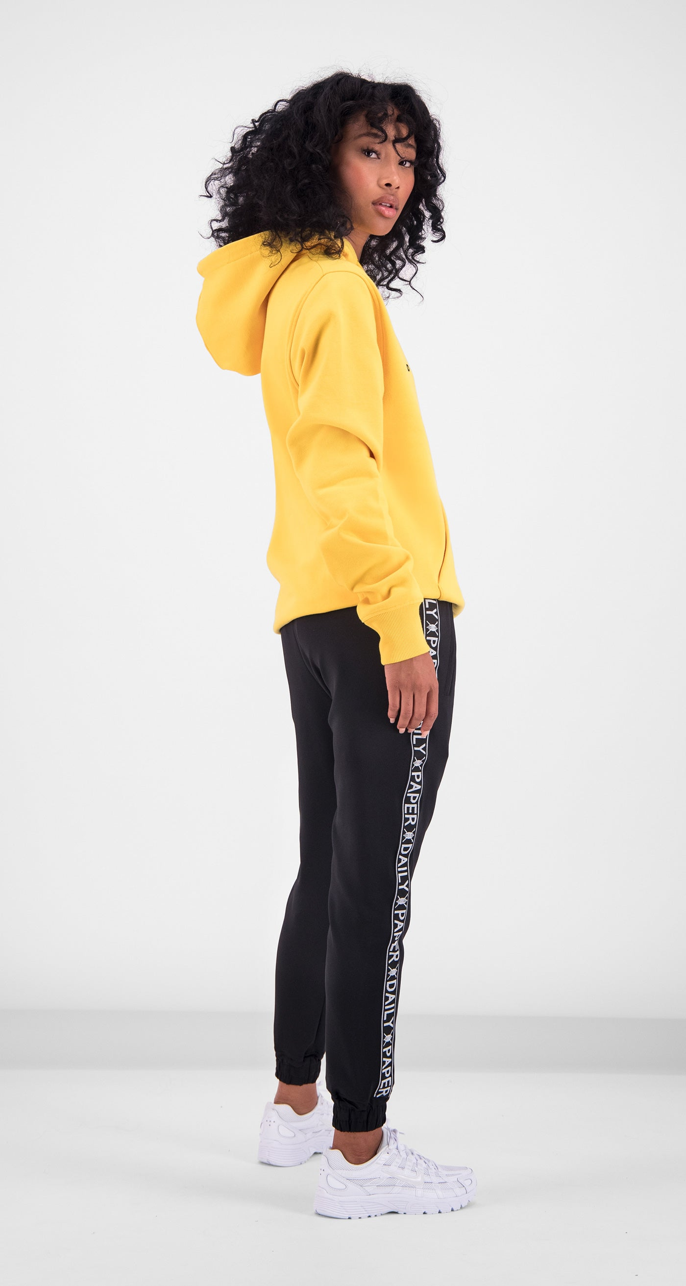 Daily Paper - Yellow Alias Hoody Women Rear