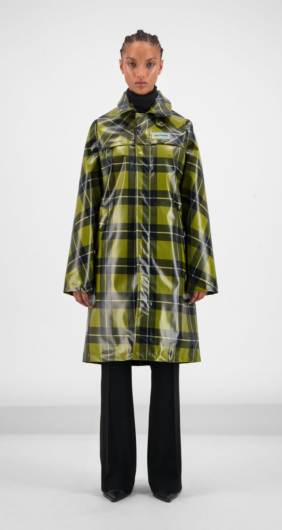Daily Paper - Yellow Checked Gain Jacket Women Front