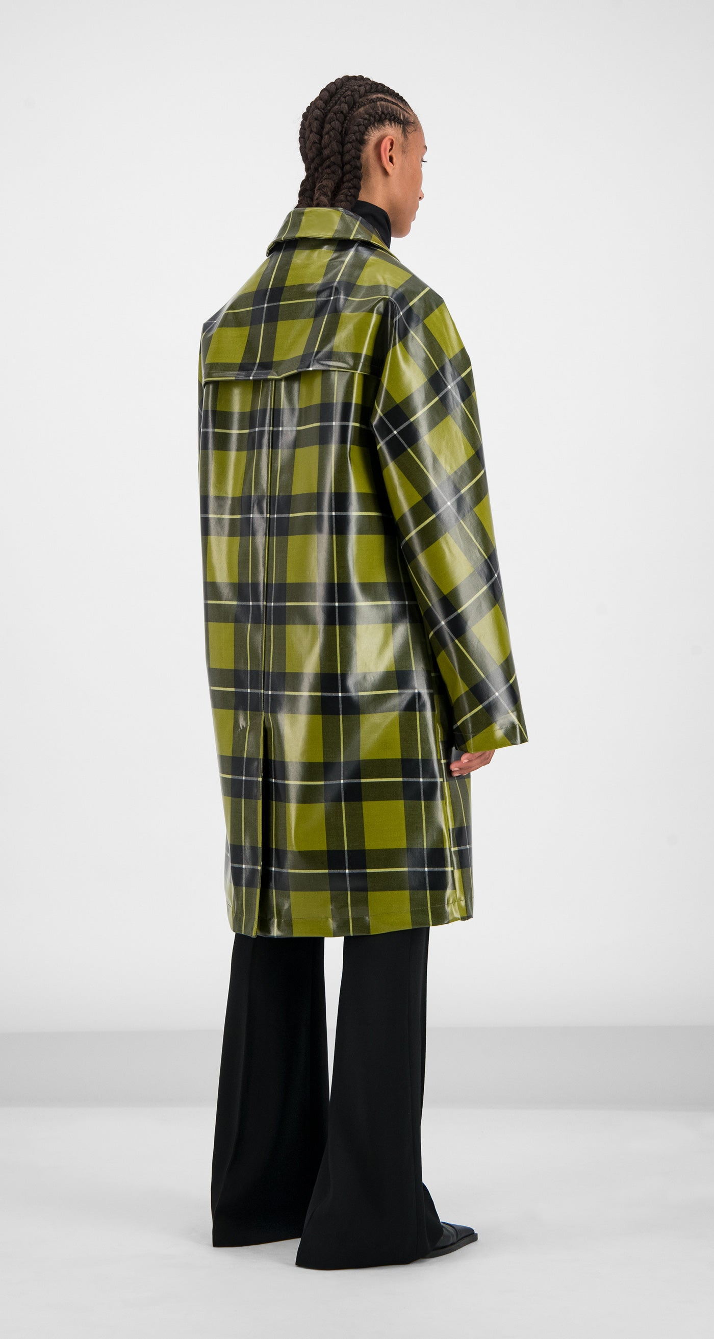 Daily Paper - Yellow Checked Gain Jacket Women Rear