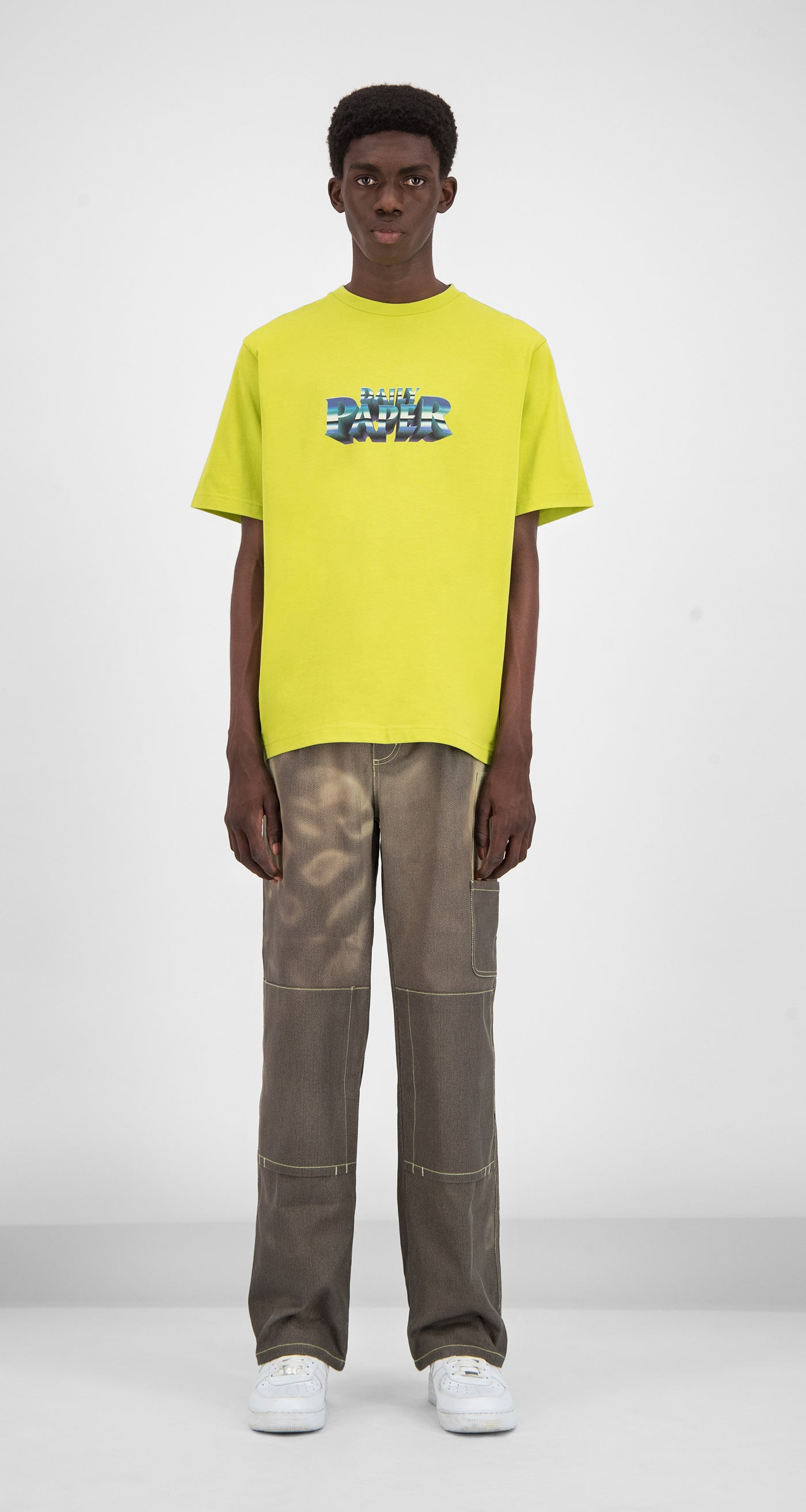 Daily Paper - Yellow Gorsulp T-shirt Men Front