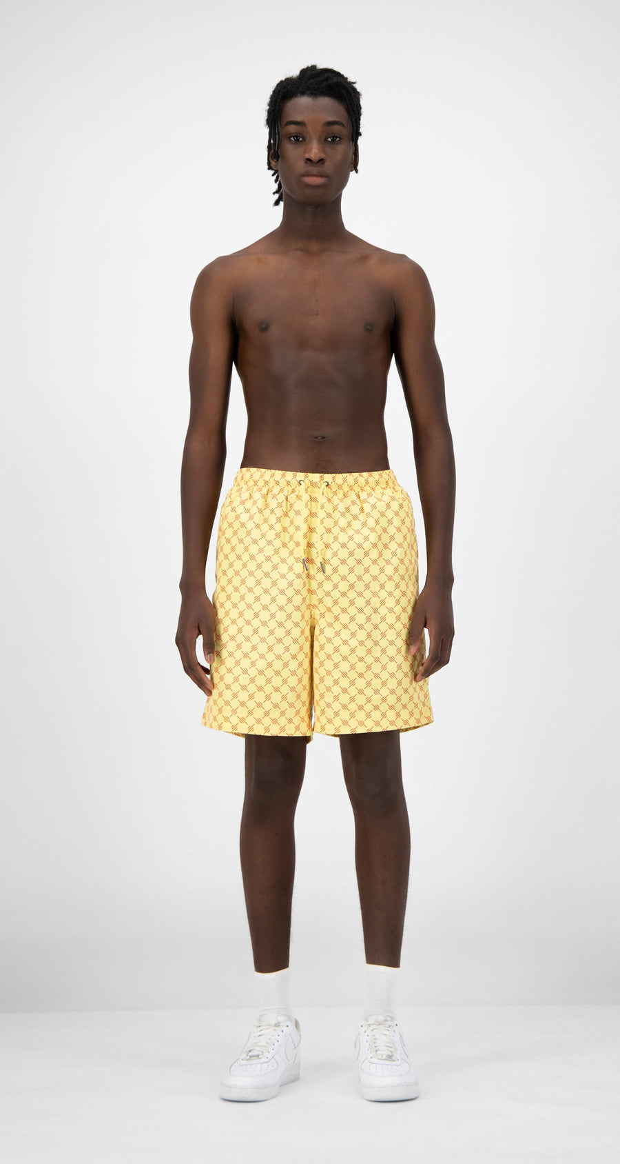 Daily Paper - Yellow Red Monogram Kali Shorts - Men Rear