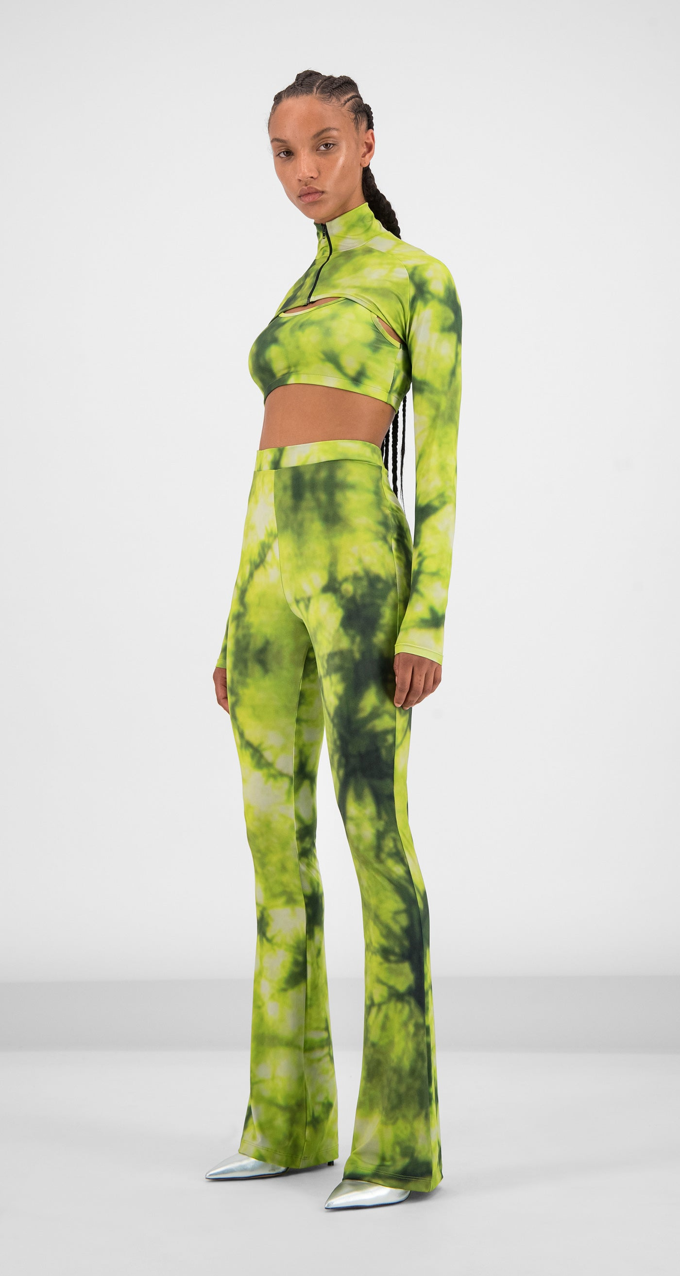 Daily Paper - Green Tie Dye Gare Pants Women