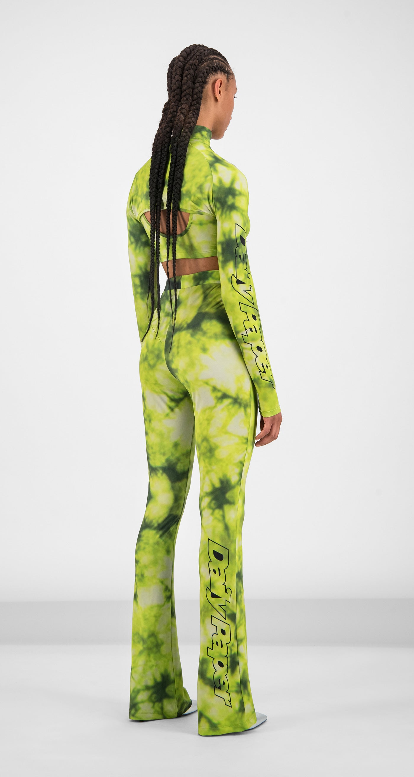 Daily Paper - Green Tie Dye Gare Pants Women Rear