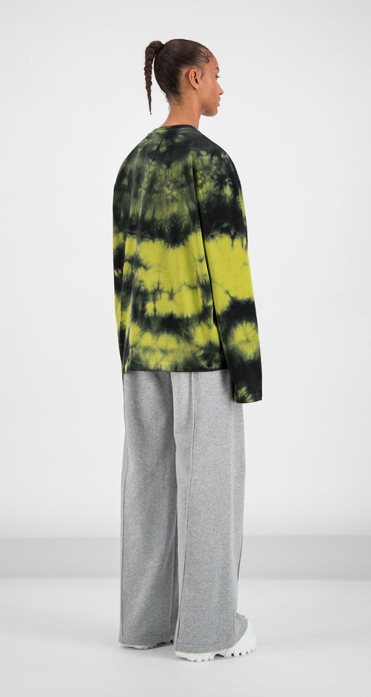 Daily Paper - Black Yellow Tie Dye Gongor Longsleeve Women Rear