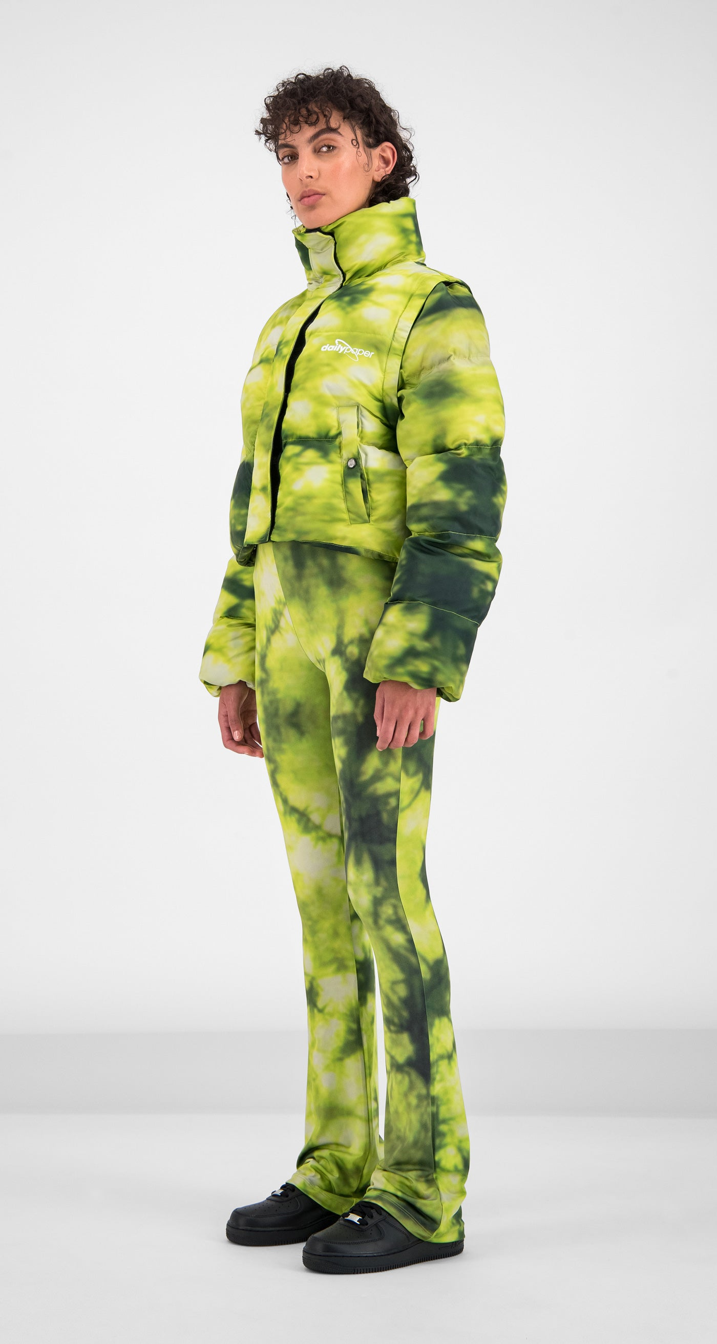 Daily Paper - Green Tie Dye Gotan Jacket Women