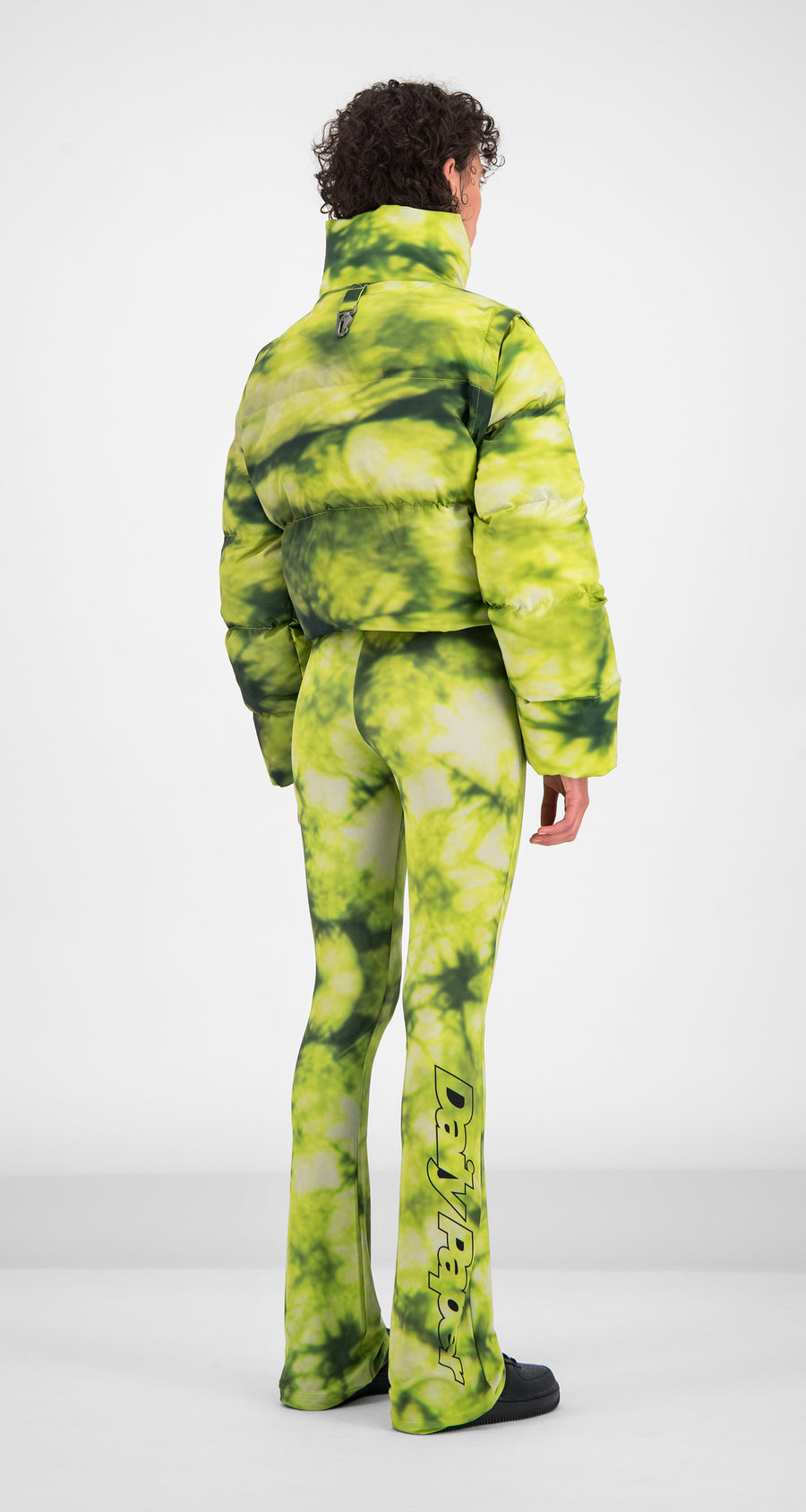 Daily Paper - Green Tie Dye Gotan Jacket - Women Rear