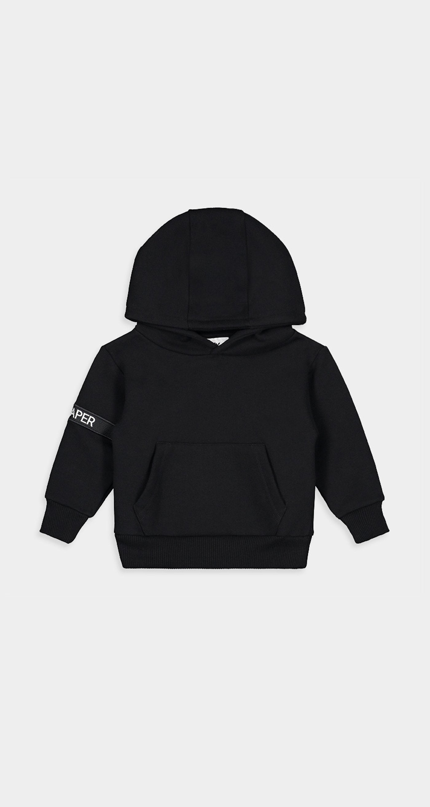 Daily Paper - Black Kids Captain Hoody Front