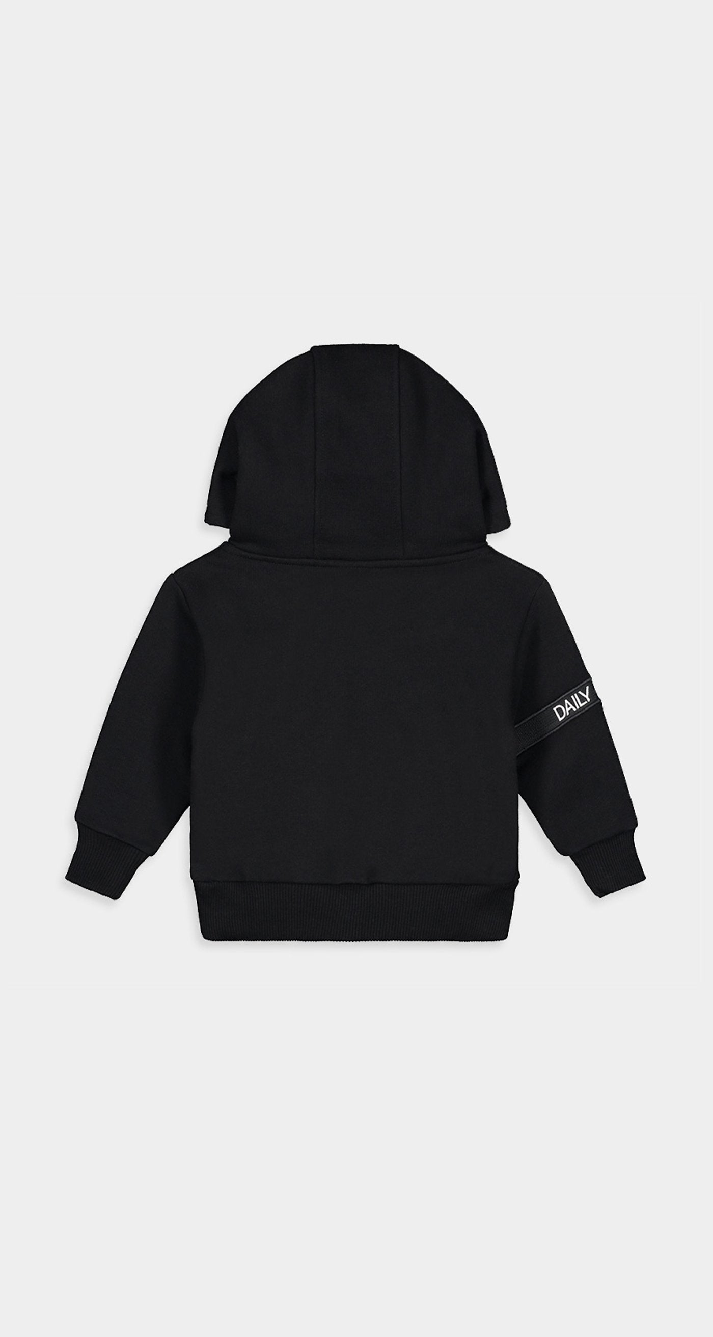 Daily Paper - Black Kids Captain Hoody Rear