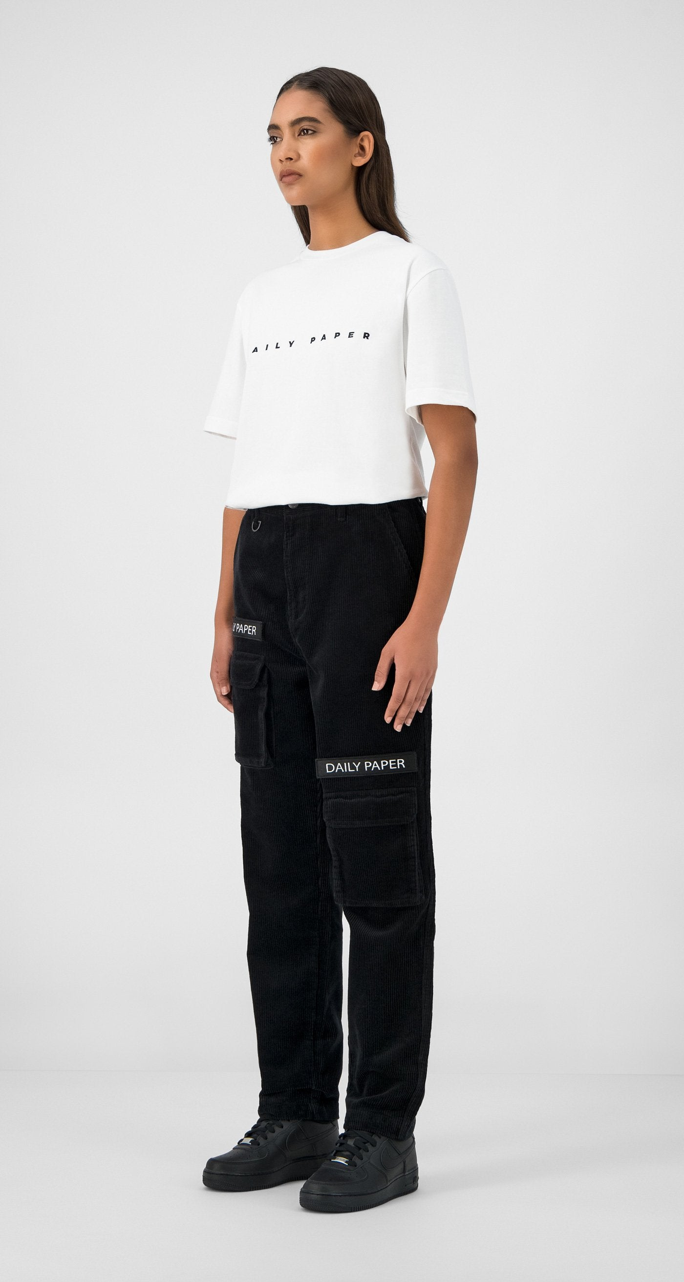 Daily Paper - Black Corduroy Cargo Pants Women