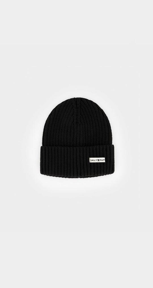 Daily Paper - Black Daily Beanie Front