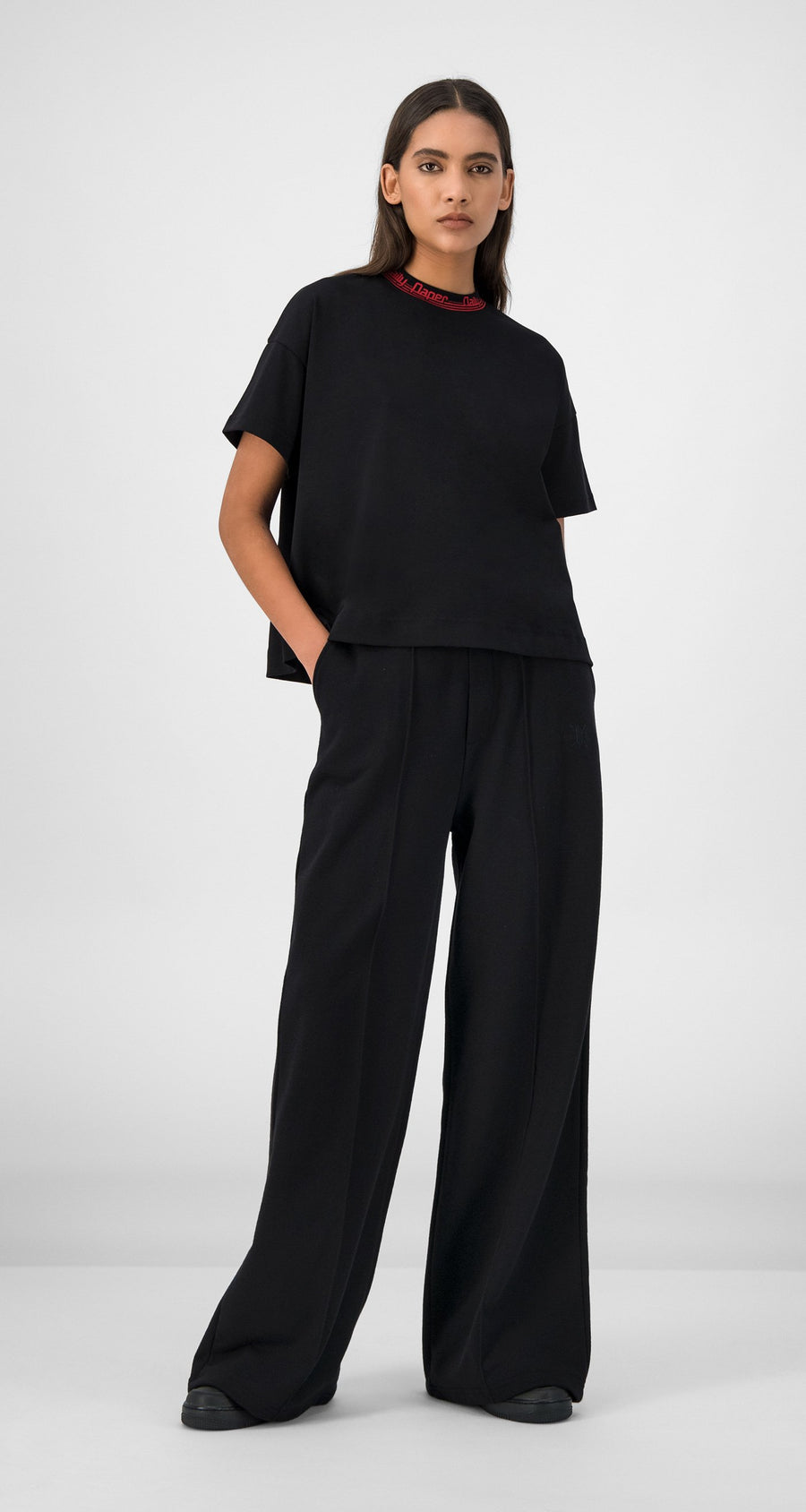 Daily Paper - Black Gifa Pants Women Front