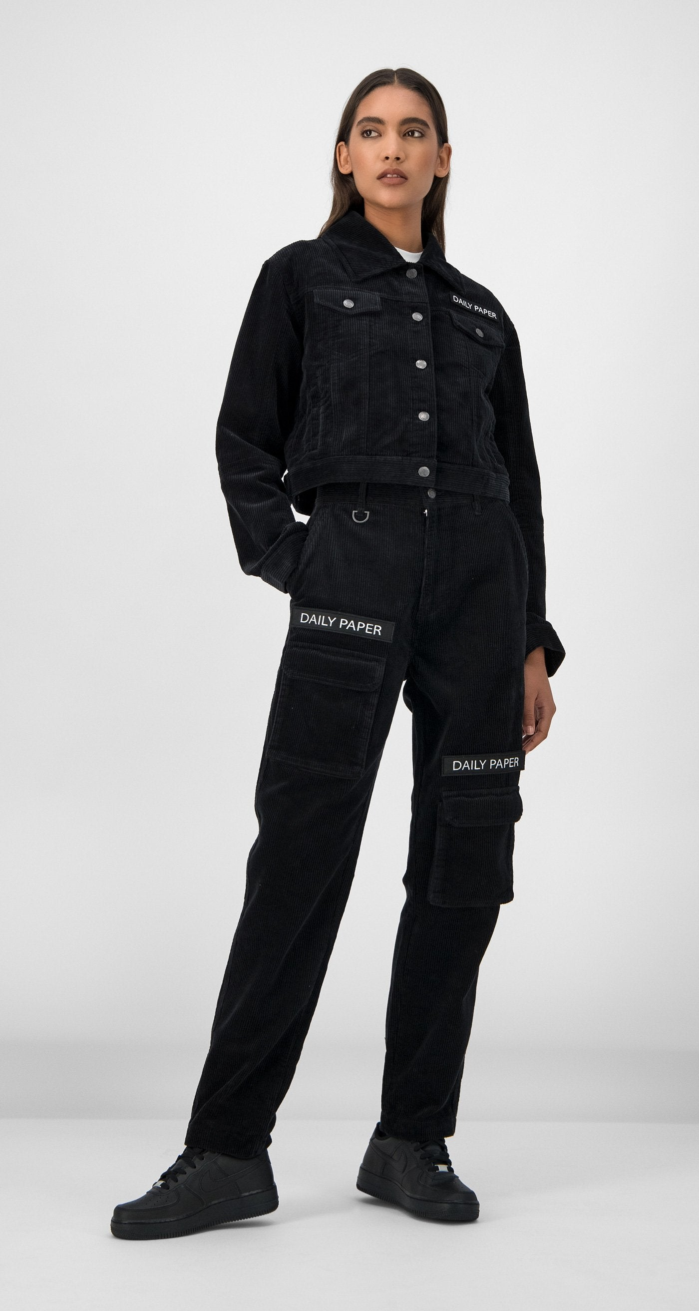 Daily Paper - Black Gipo Corduroy Jacket Women