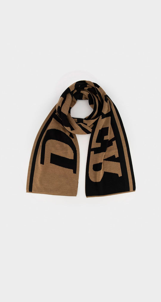 Daily Paper - Brown Black Merino Scarf Front