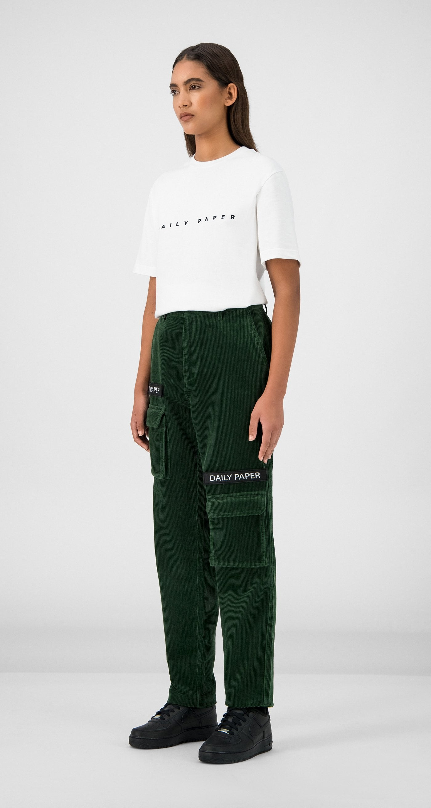 Daily Paper - Green Corduroy Cargo Pants Women