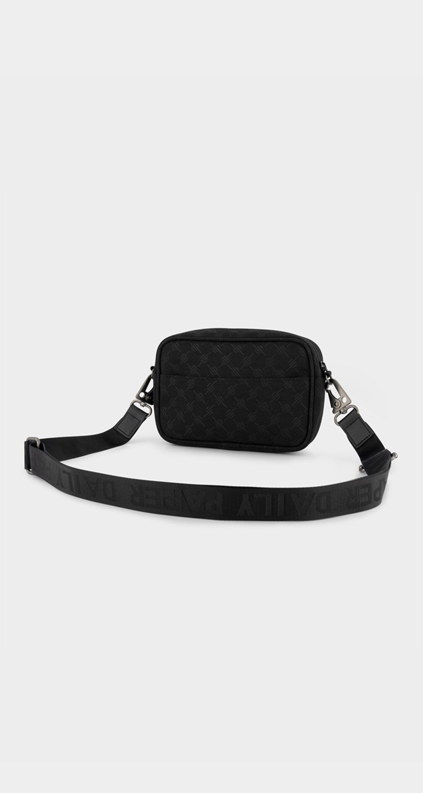 Daily Paper - Black Monogram Homea Bag - Rear