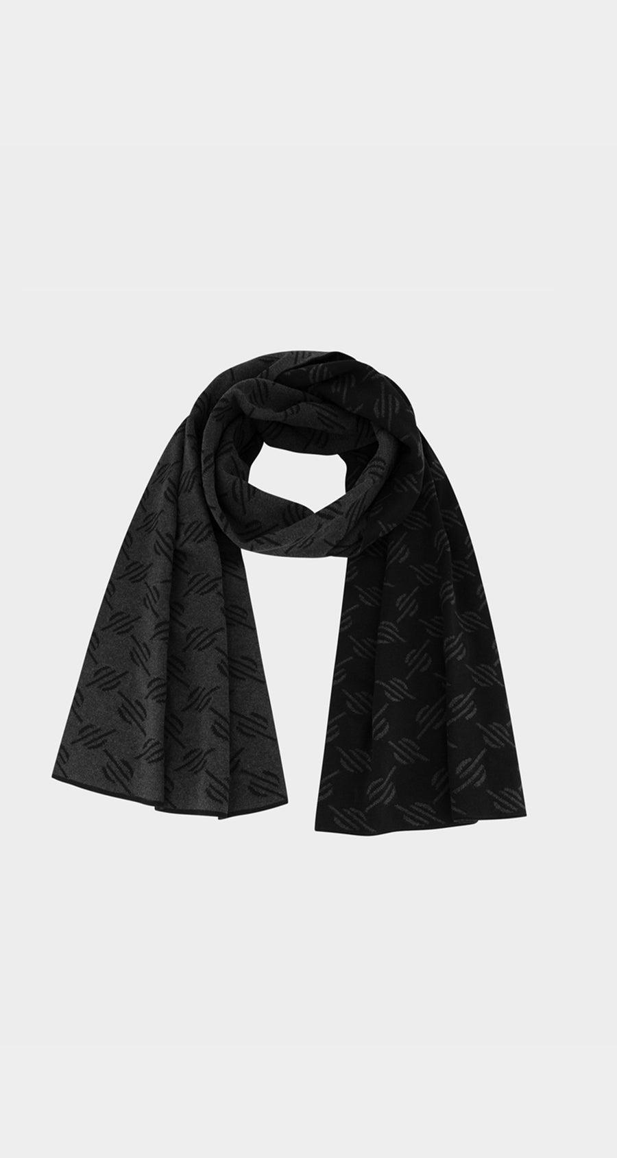 Dailly Paper -Black Monogram Hoscarf - Front