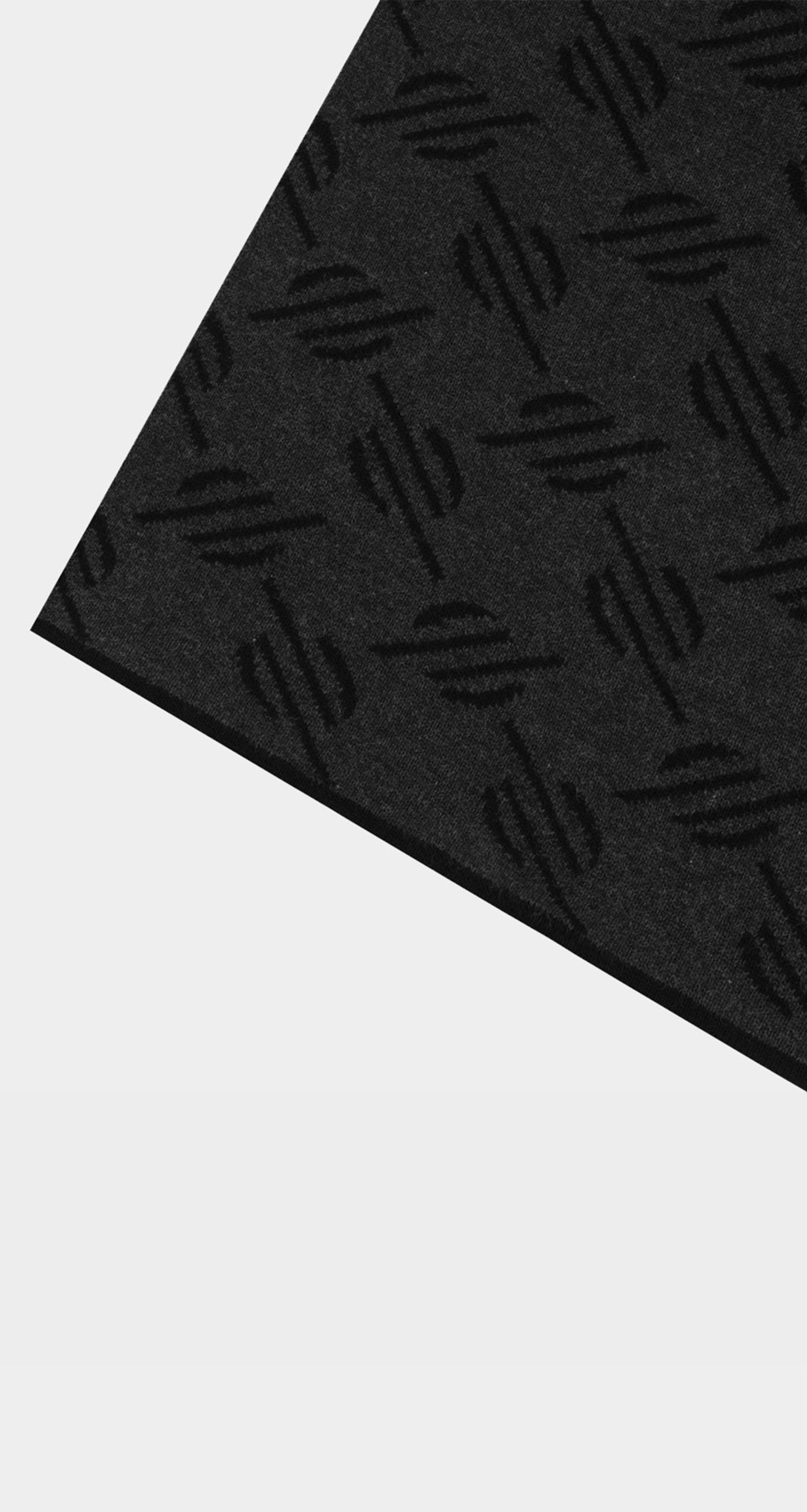 Dailly Paper -Black Monogram Hoscarf - Rear