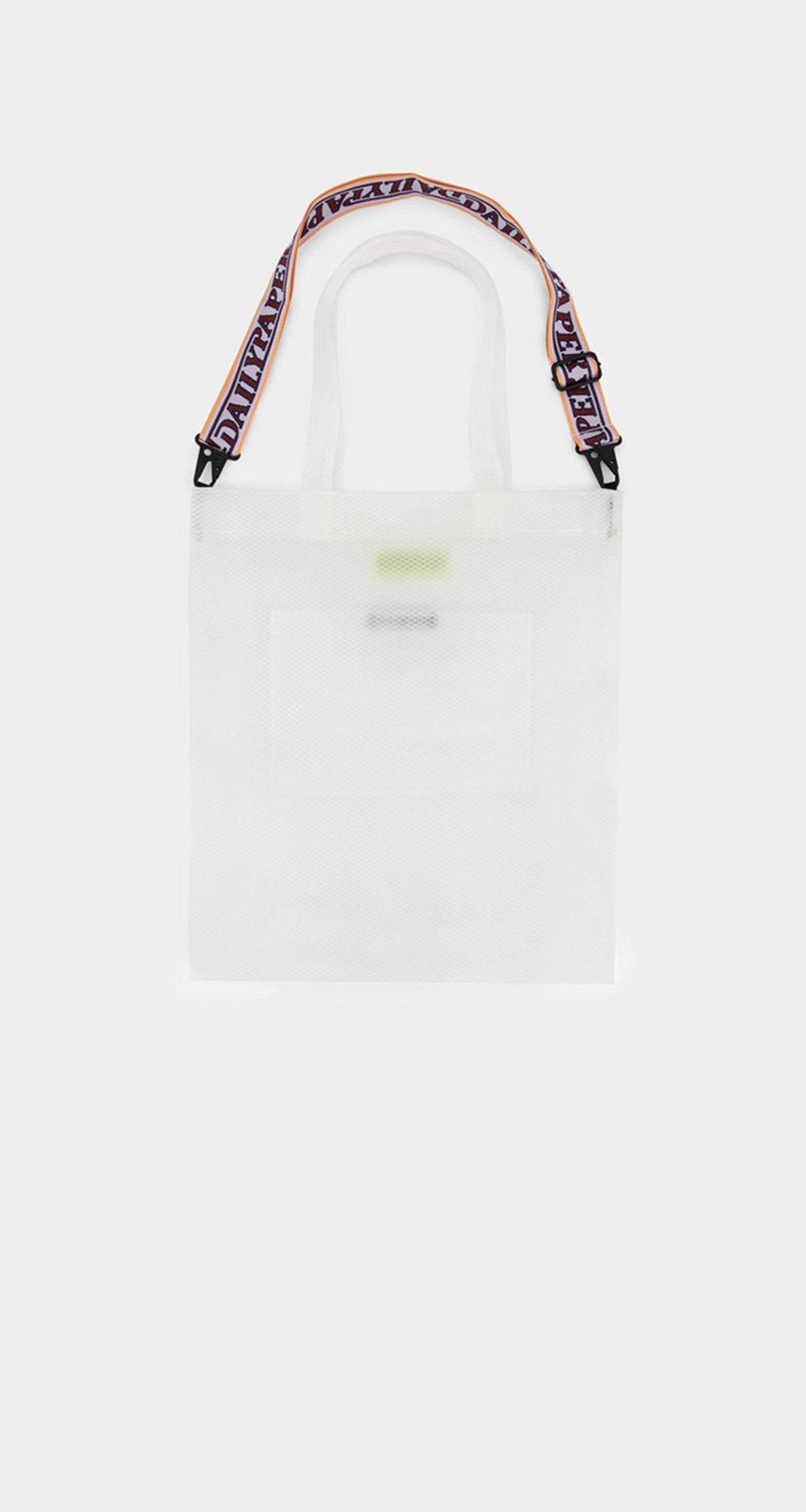 Daily Paper - White Mesh Honty Totebag - Rear