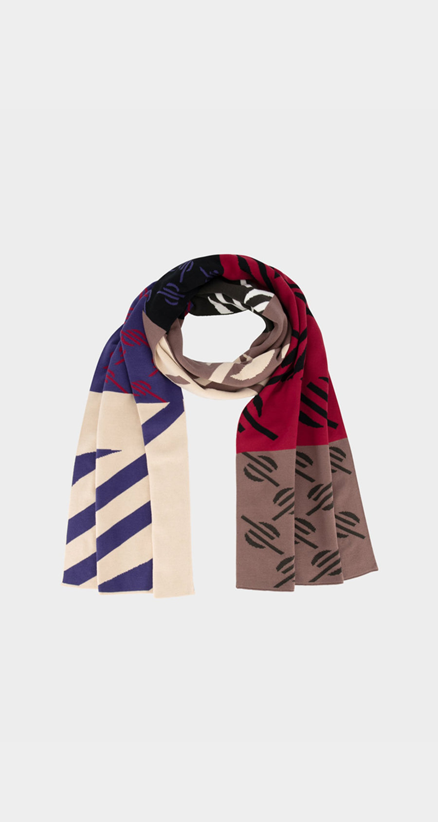Daily Paper - Multi Monogram Hopatch Scarf - Front