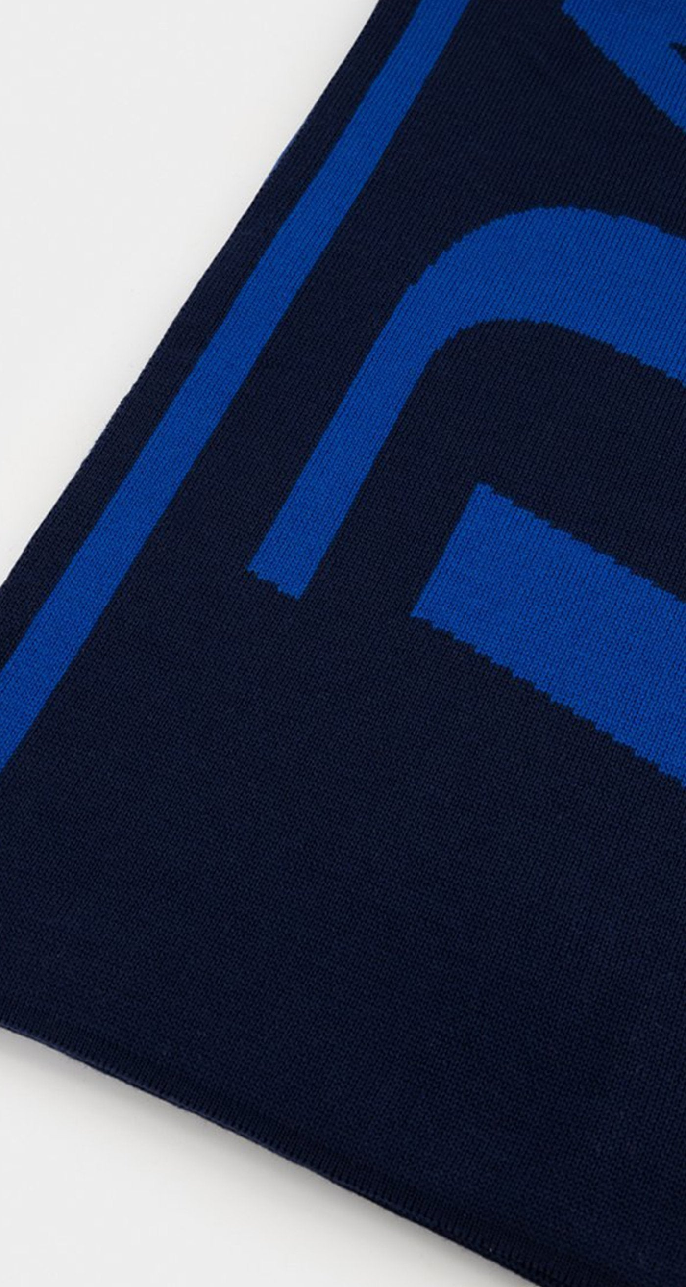 Daily Paper - Navy Blue Merino Scarf Rear