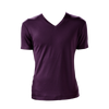 Marteino Men's V Neck Full Plain Purple Tee Shirt | Short Sleeve | Classic Slim Fit