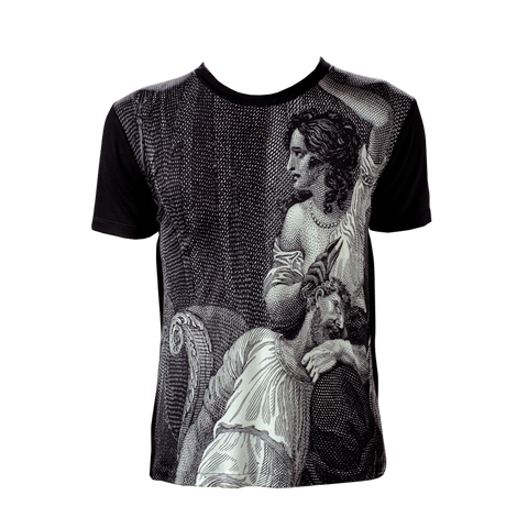 Marteino Men's Samson and Delilah Silk Printed Tee Shirt