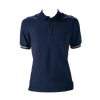 Marteino Men's Slim Fit Ribbed Short Sleeve Navy Polo Shirt