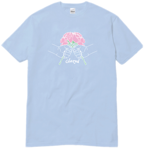 BOUQUET T-SHIRT (LIGHT BLUE)