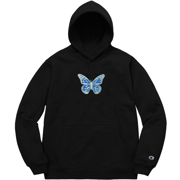 GLZD BUTTERFLY CHAMPION® HOODIE (BLACK)