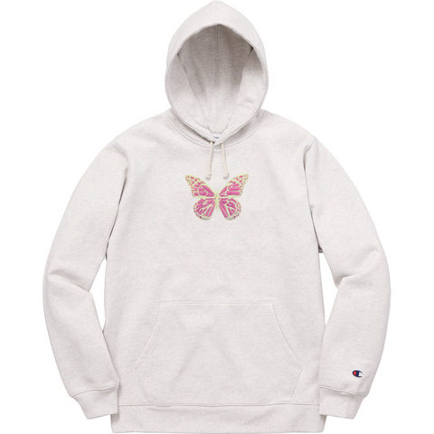 GLZD BUTTERFLY CHAMPION® HOODIE (LIGHT GREY)