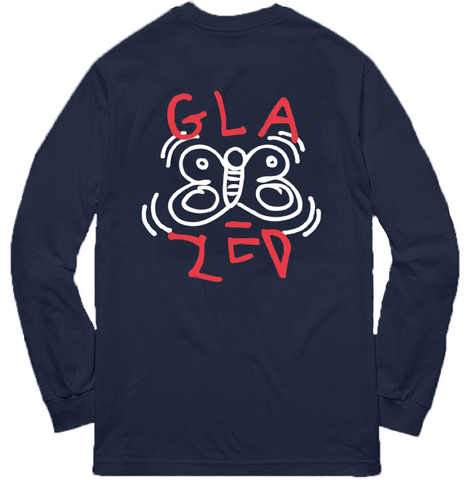 BUTTERFLY LONG SLEEVE (NAVY)