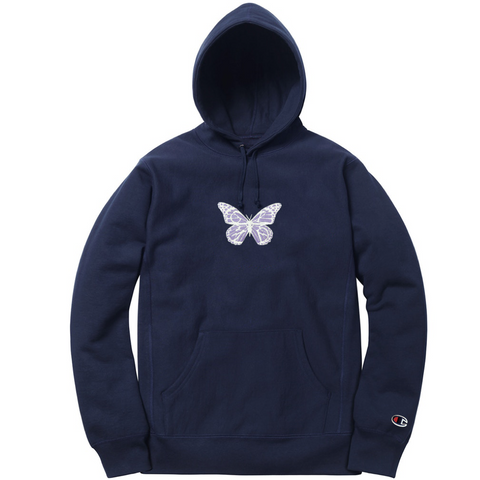 GLZD BUTTERFLY CHAMPION® HOODIE (NAVY)