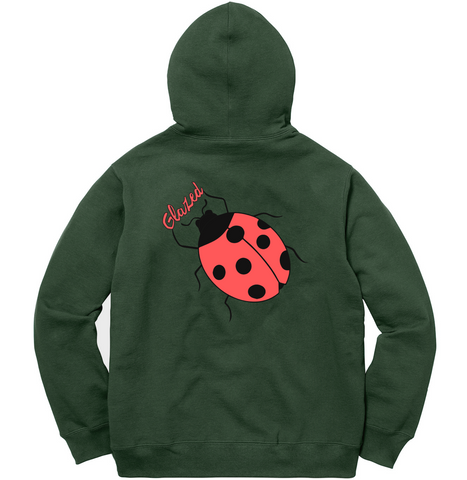 LADYBUG CHAMPION® HOODIE (FOREST GREEN)