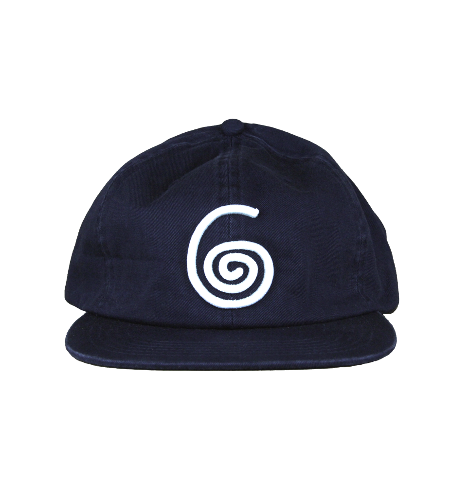 SWIRL 6-PANEL CAP (NAVY)