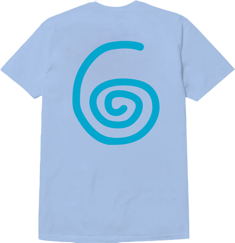 SWIRL T-SHIRT (LIGHT BLUE)