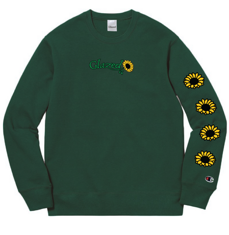 SUNFLOWER CHAMPION® CREWNECK (DARK GREEN)