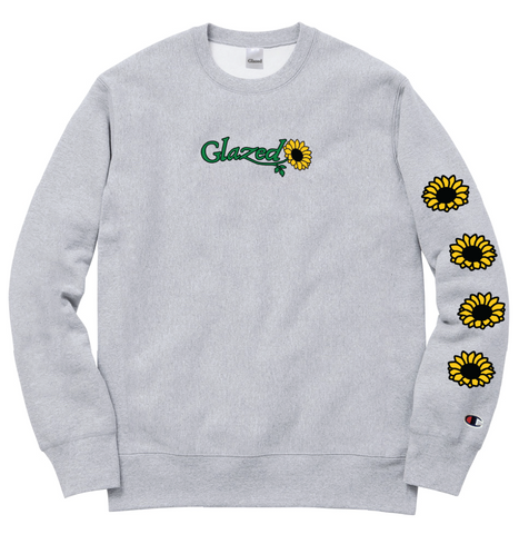 SUNFLOWER CHAMPION® CREWNECK (GREY)