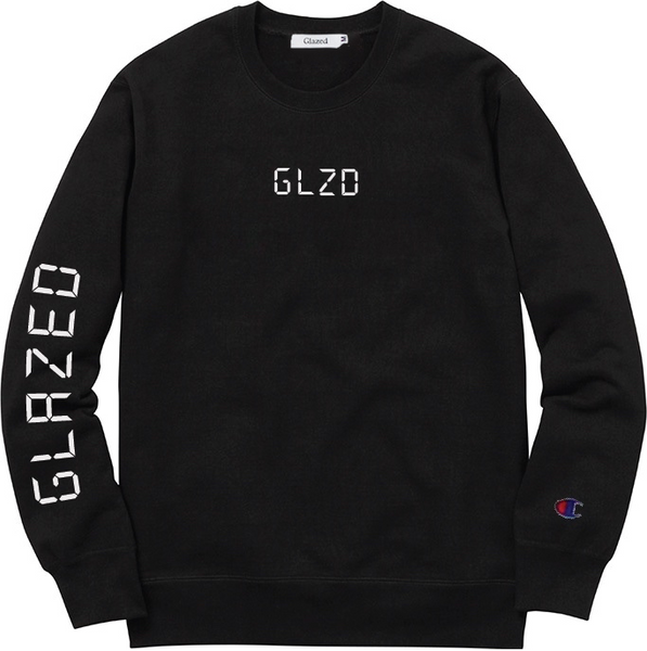DIGI GLOW CHAMPION® CREWNECK (BLACK)